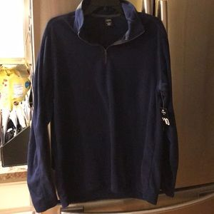 NWT Fleece half zip shirt